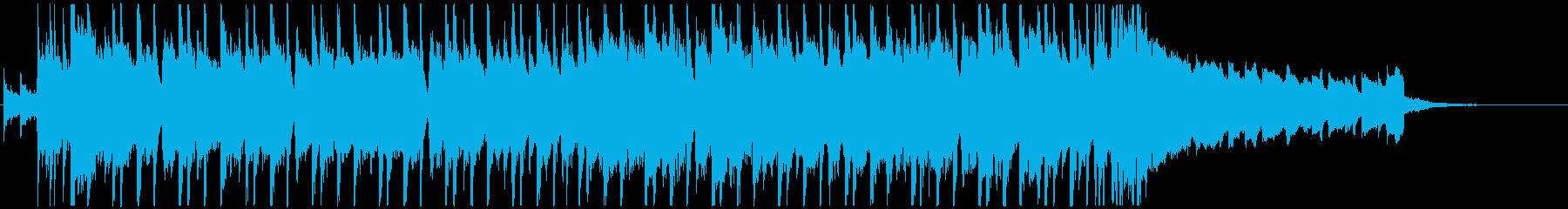 明るく軽快、ウキウキ楽しい動画用、30秒の再生済みの波形