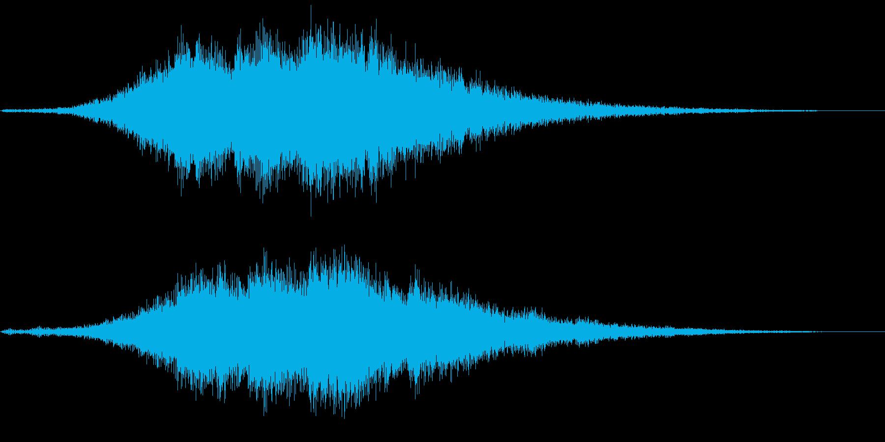 ホラーやサスペンスで使える効果音の再生済みの波形