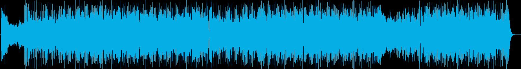 爽快感のあるシンセサイザーサウンドの再生済みの波形