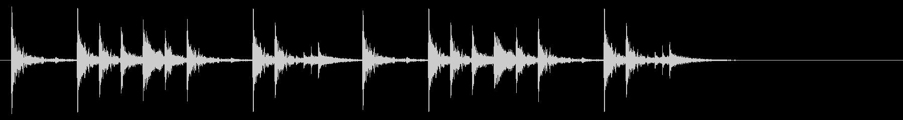 定番のリズム ドッチドド カラカカン#2の未再生の波形