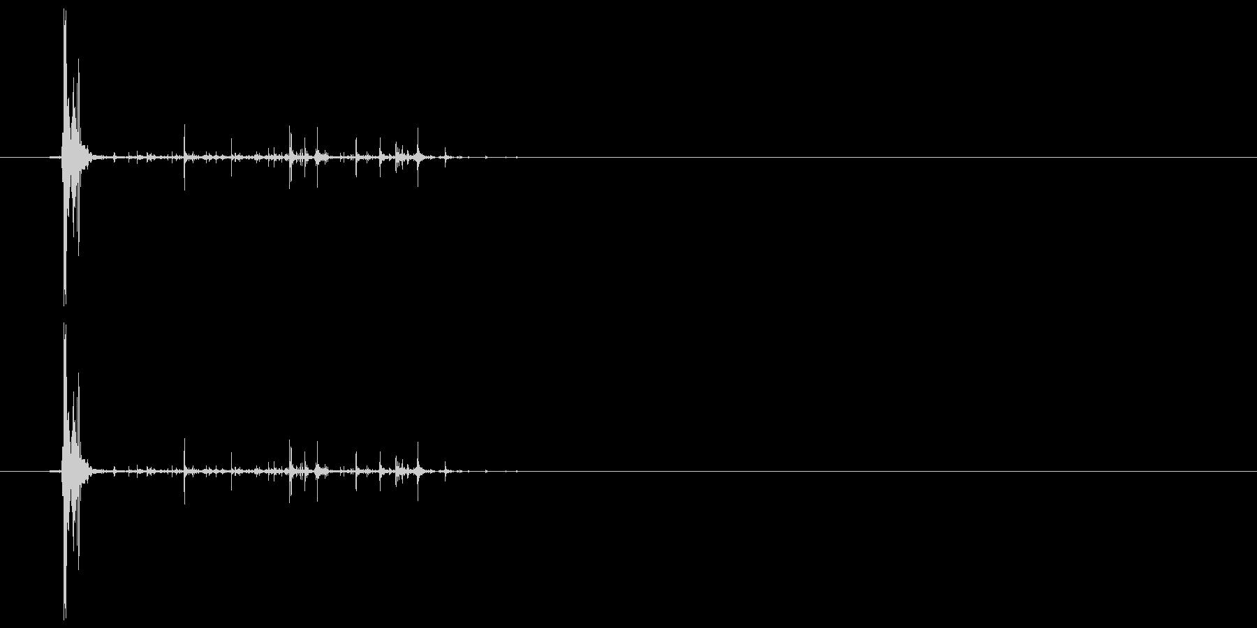 ネバネバしたものを潰す音2の未再生の波形