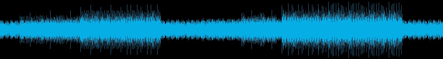 【ループ対応】エレクトロニカBGMの再生済みの波形