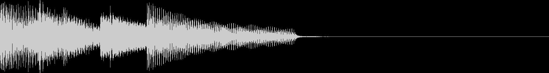 レトロなエレピのジングルの未再生の波形