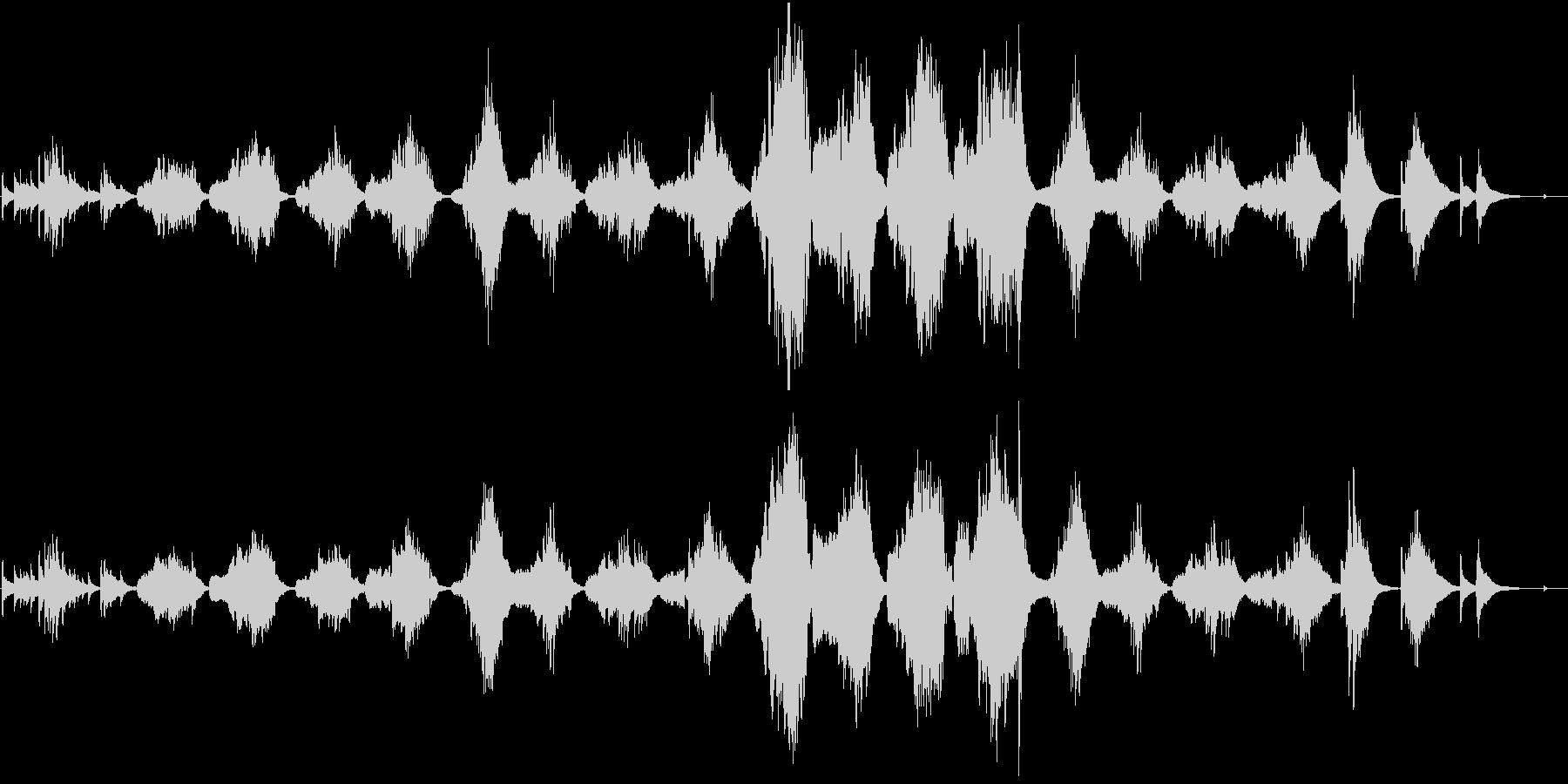 パンフルートとギターによる「月の砂漠」の未再生の波形