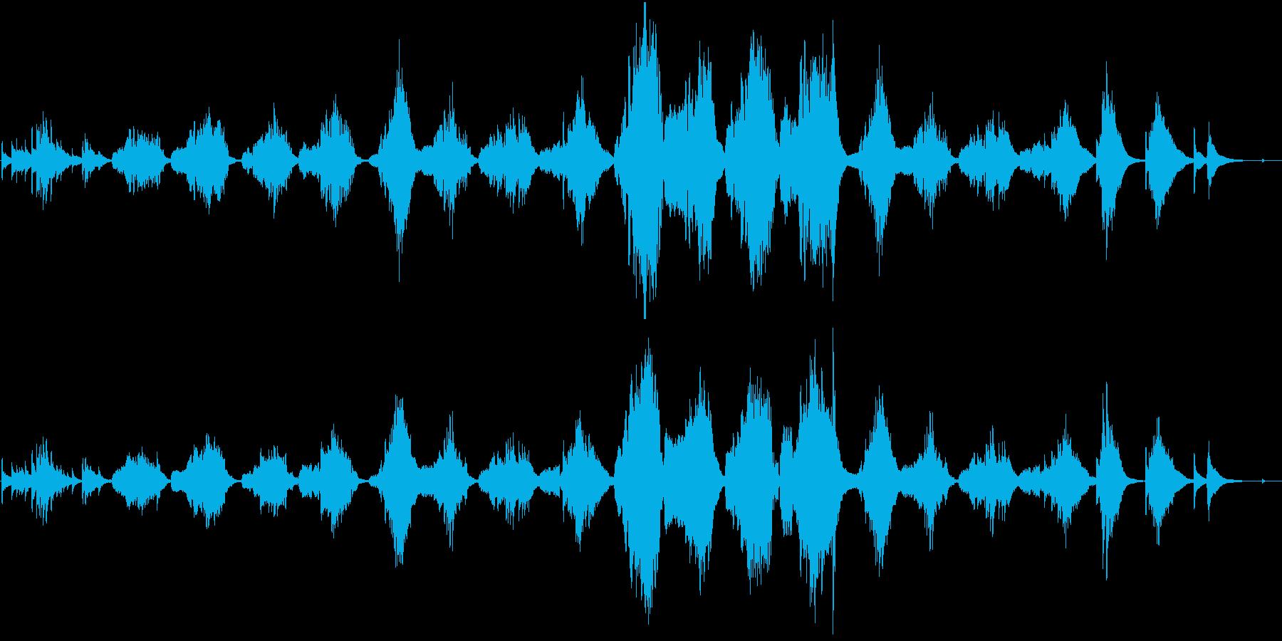 パンフルートとギターによる「月の砂漠」の再生済みの波形