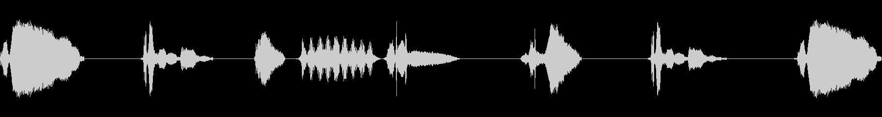 アオジのさえずり(黄色っぽい小鳥)の未再生の波形