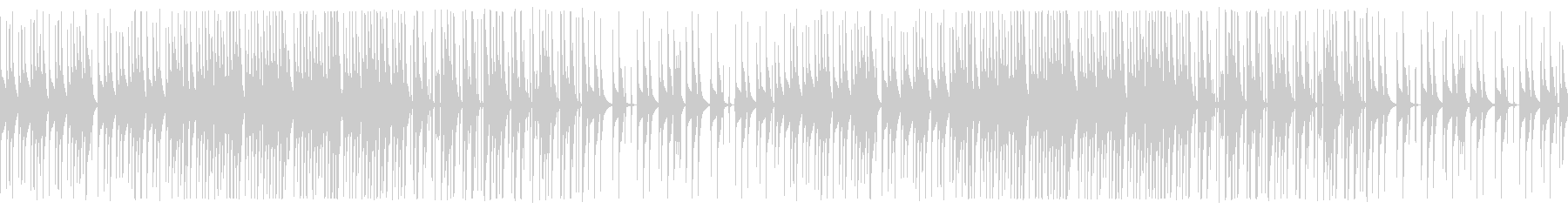 考え中のイメージのループBGMの未再生の波形