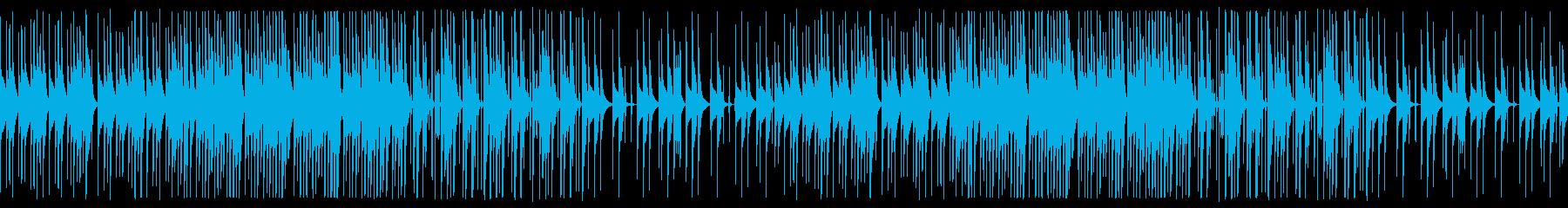 考え中のイメージのループBGMの再生済みの波形