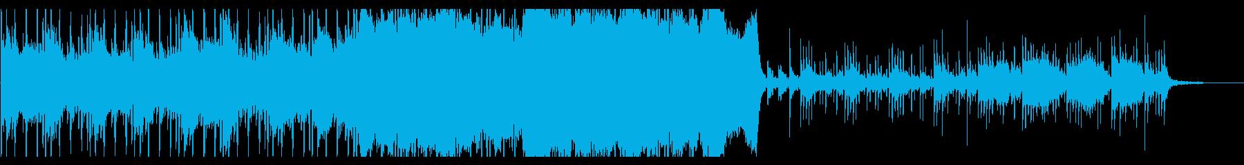 ピアノとストリングスのエンディング曲の再生済みの波形