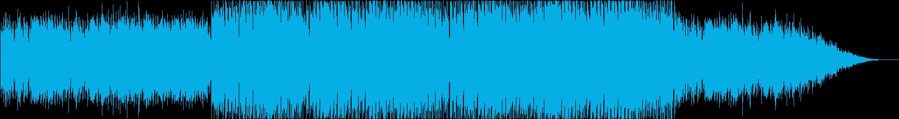 ポジティブで音響的なバックグラウンドトラの再生済みの波形