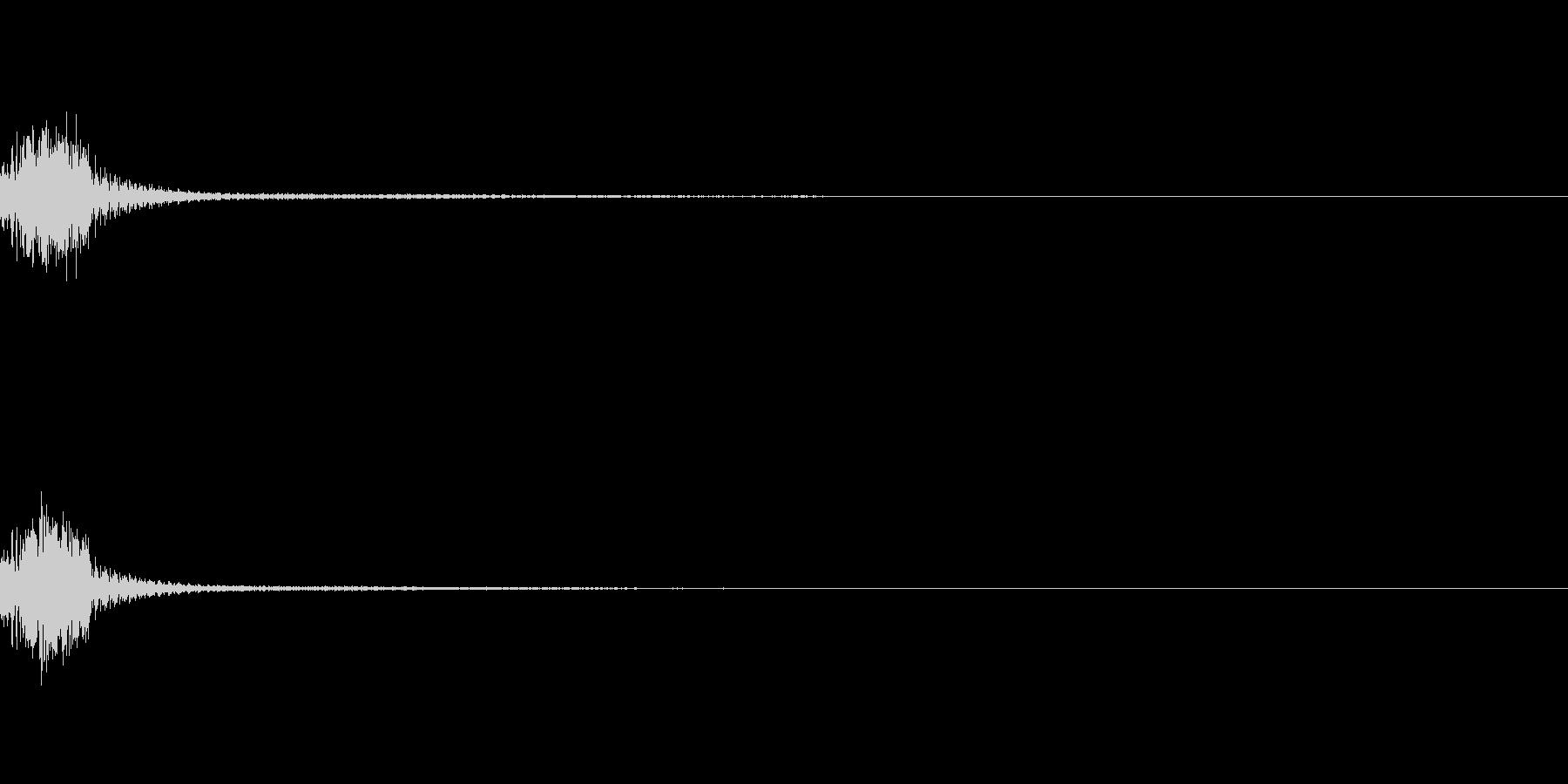 パズルゲーム風コンボのカウント音2の未再生の波形