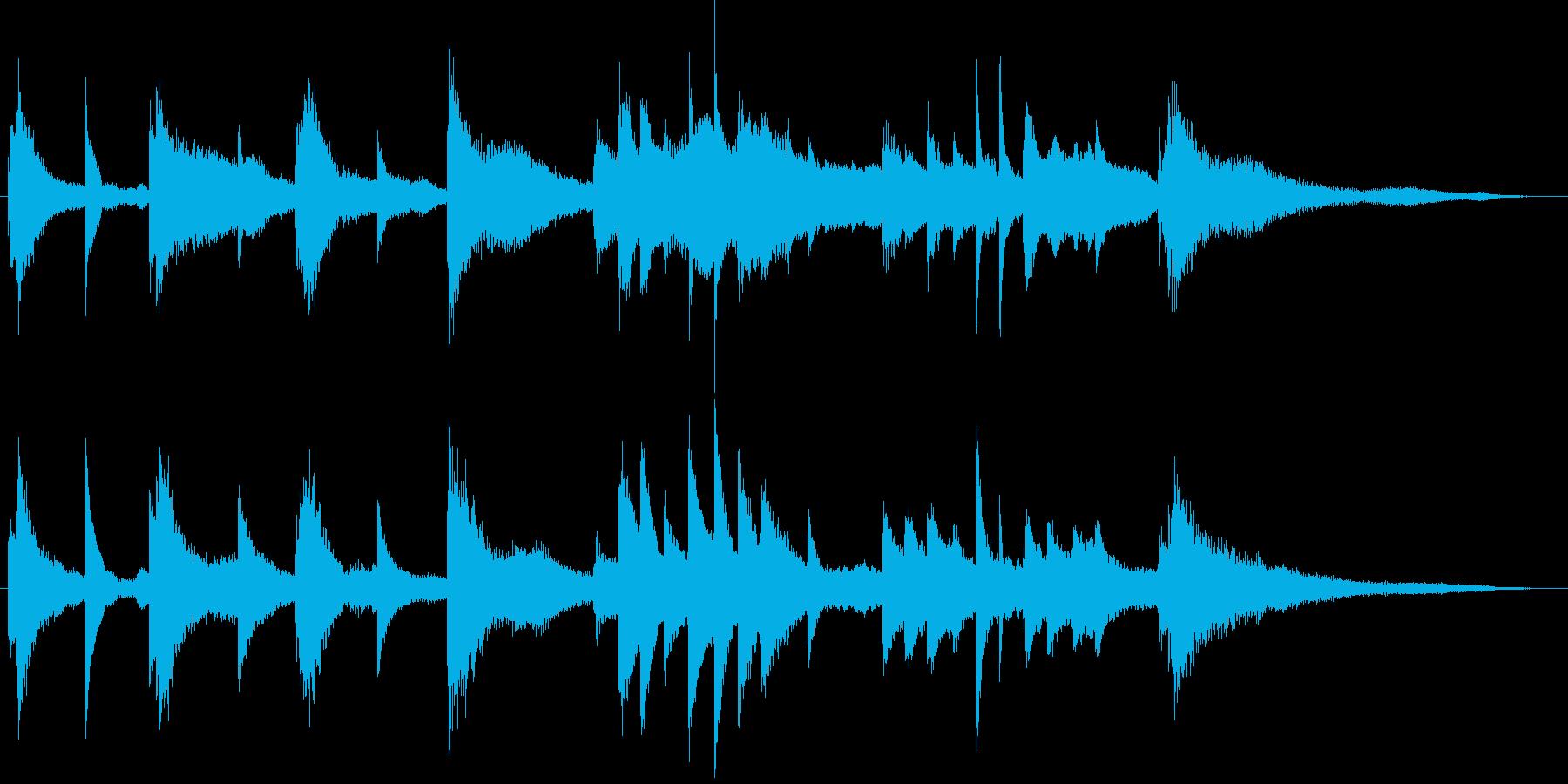 神秘的な雰囲気のピアノソロジングルの再生済みの波形