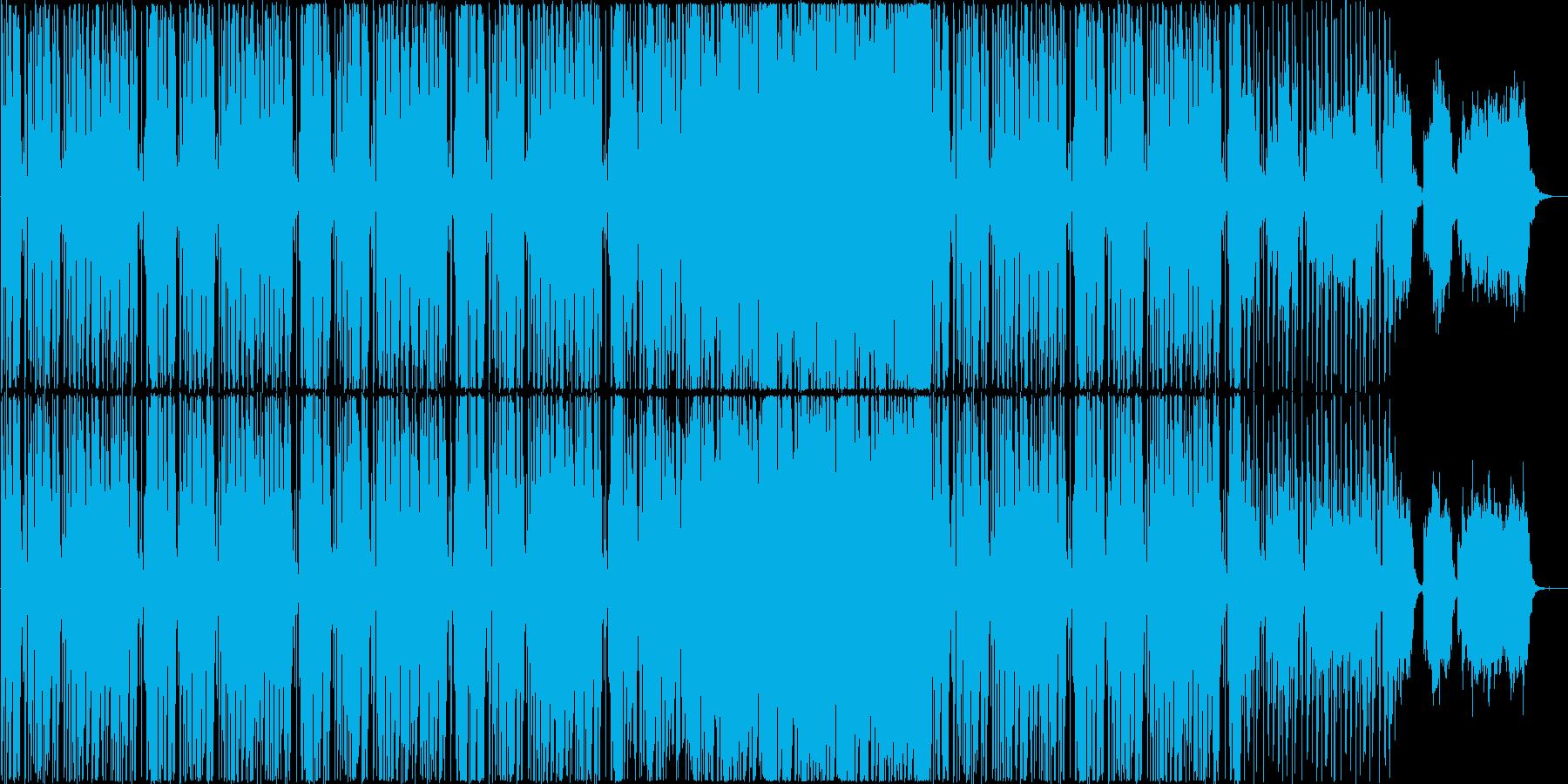 少し哀愁の漂うヒップホップ風BGMですの再生済みの波形