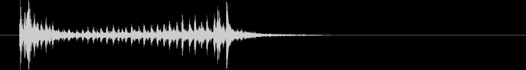 ドラムロール(スネア)短めの未再生の波形