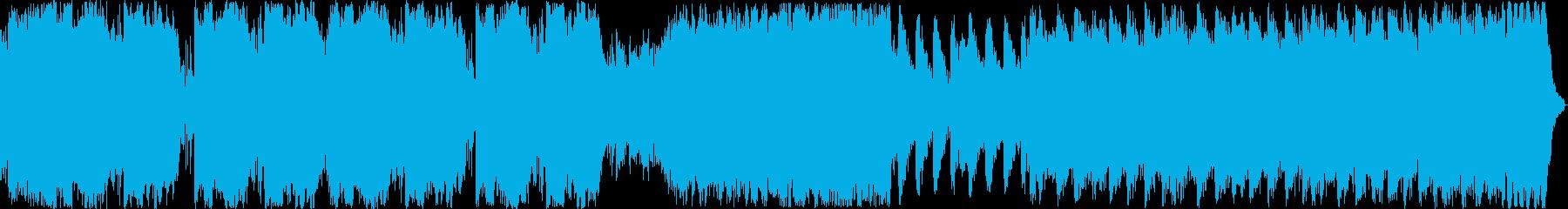 金管メインの暴力的な曲の再生済みの波形