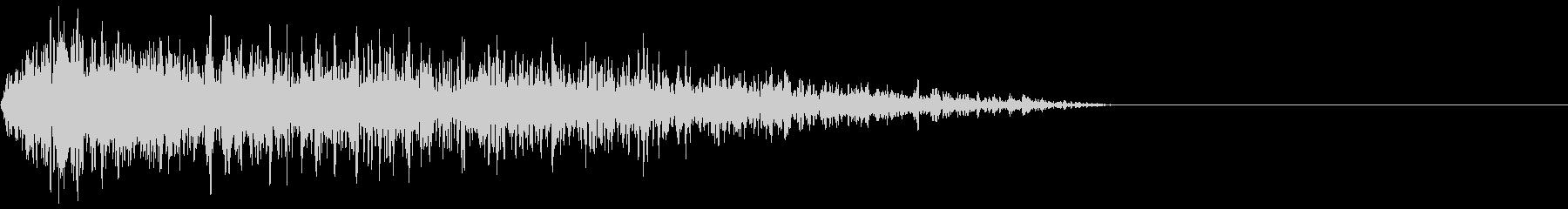 短い過酷な歪んだノイズバースト1の未再生の波形