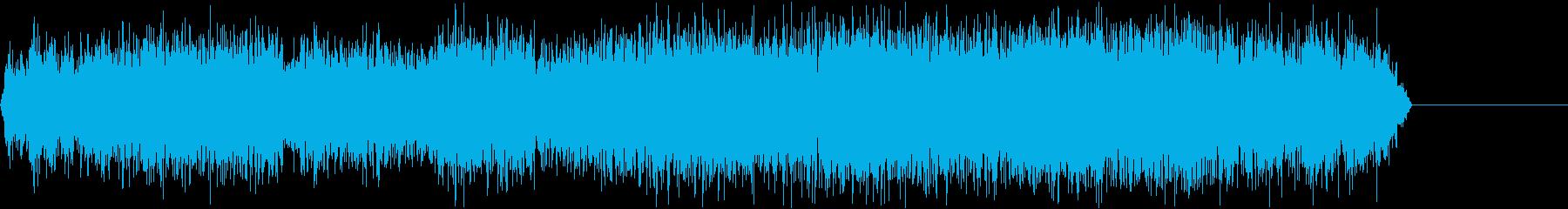 ガガガガガガ(機械で削るような音)の再生済みの波形