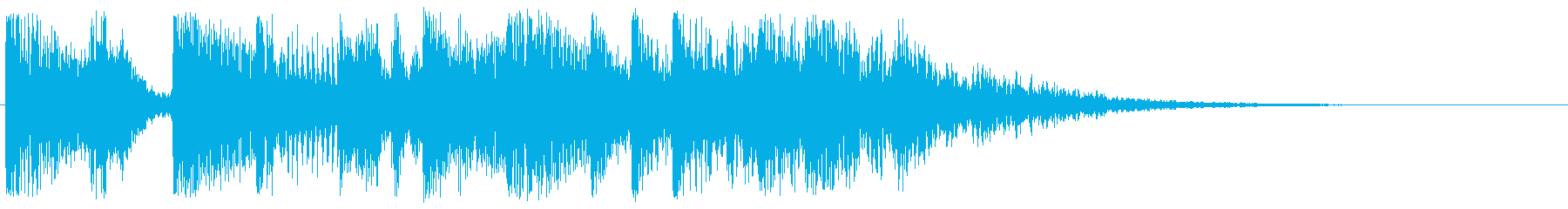 コミカルで落ち着きのないワルツ調ジングルの再生済みの波形