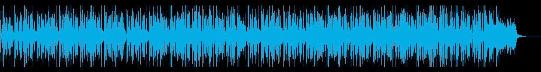 三味線と琴の明るく落ち着いた和風BGMの再生済みの波形
