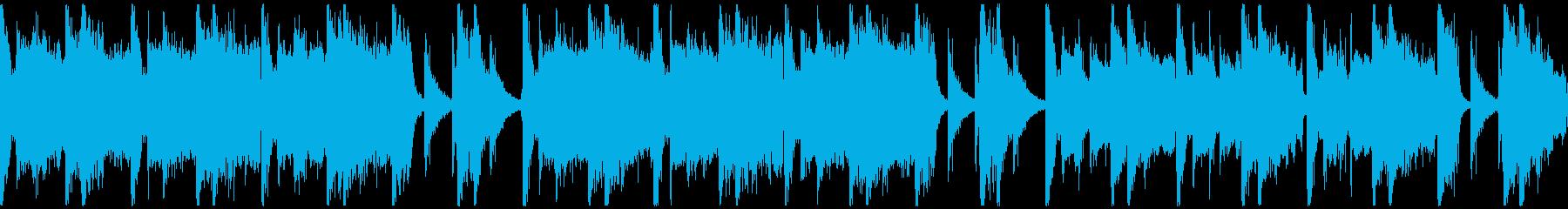 パワフルクラップ&ストンプのロックループの再生済みの波形