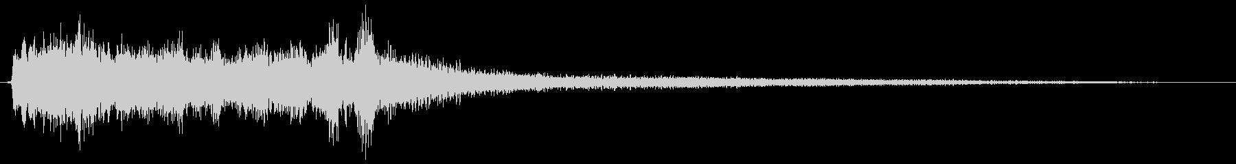 ホラー ピアノ弓弦ブロークンロース...の未再生の波形