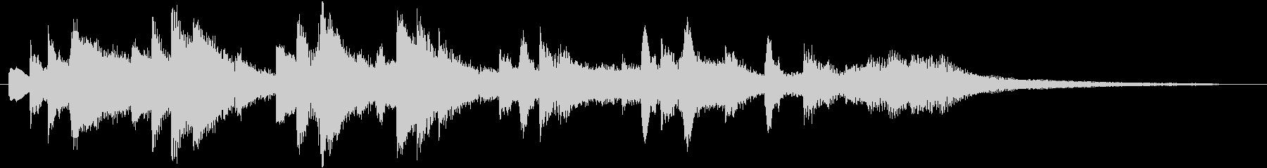 ゆったり優しい ピアノのジングル 20秒の未再生の波形
