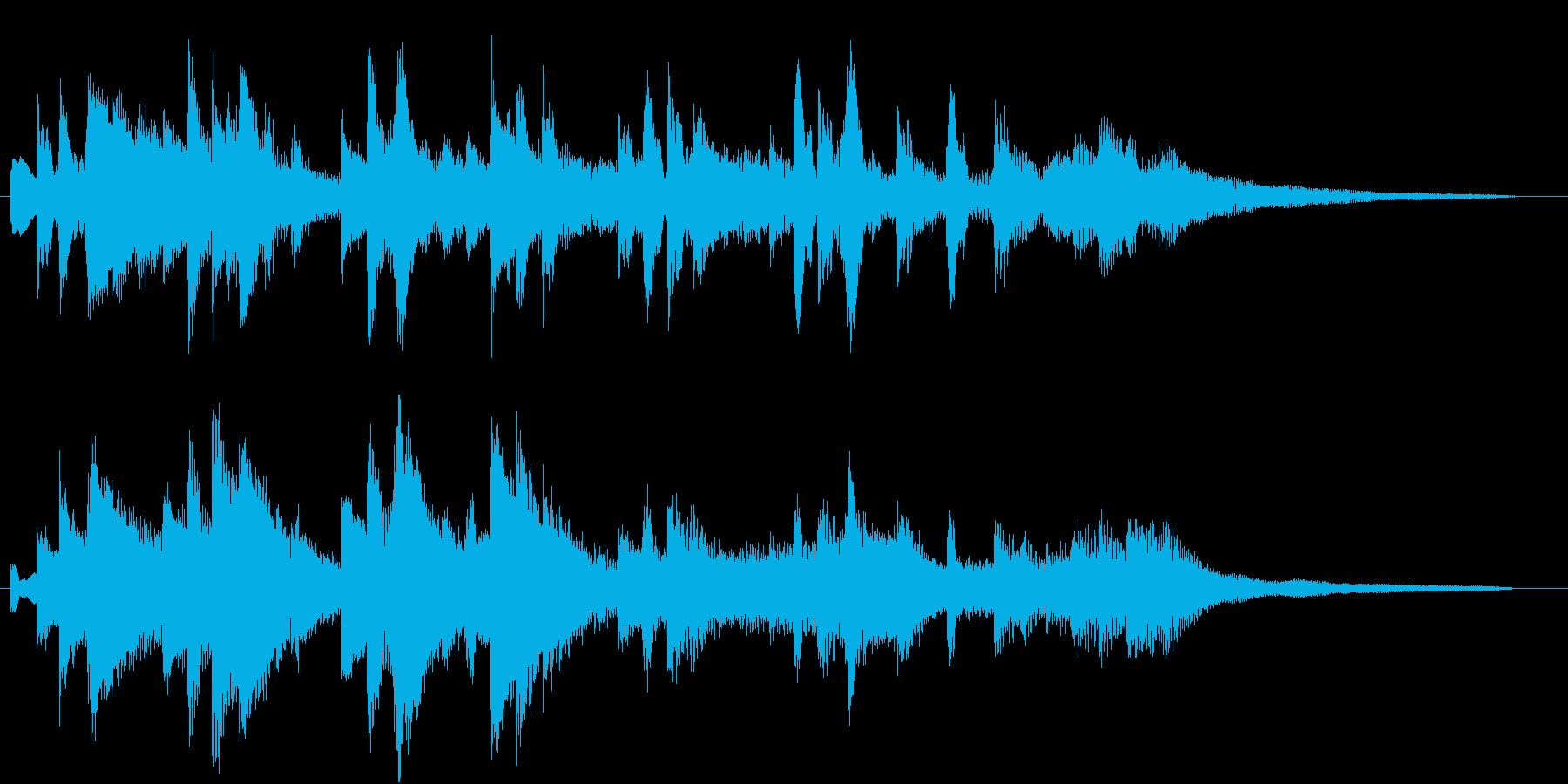 ゆったり優しい ピアノのジングル 20秒の再生済みの波形