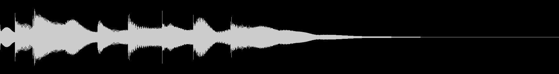 ジングル用オルゴール楽曲04-2の未再生の波形