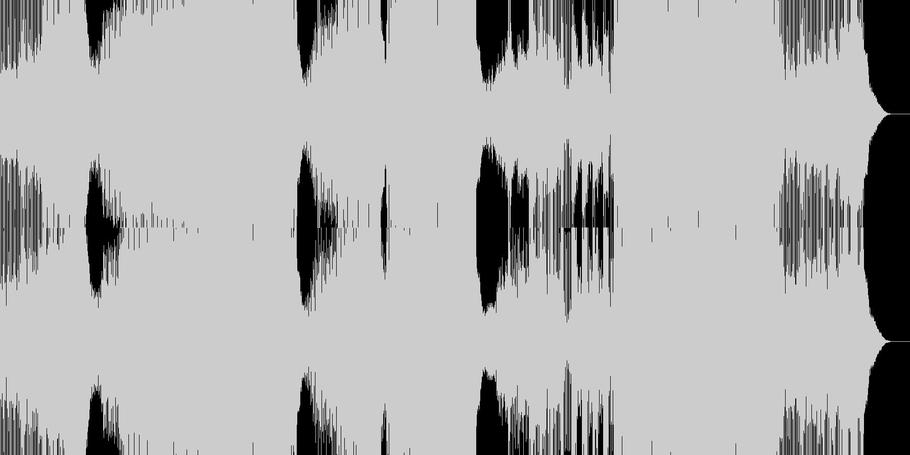 Edm。エレクトロ。クレッシェンド...の未再生の波形