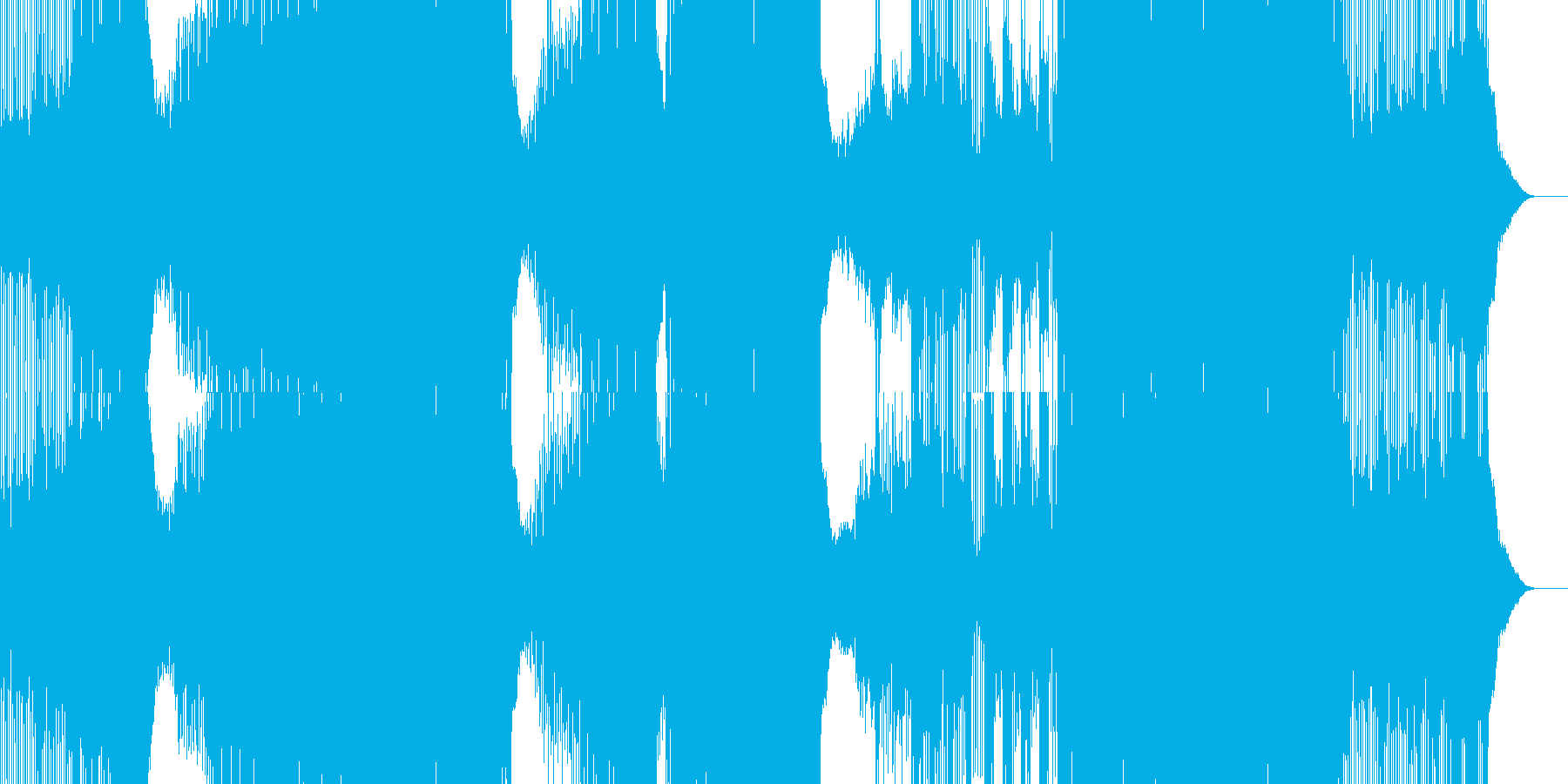 Edm。エレクトロ。クレッシェンド...の再生済みの波形