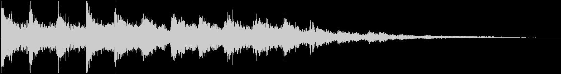 通知音・着信音風ジングル8の未再生の波形