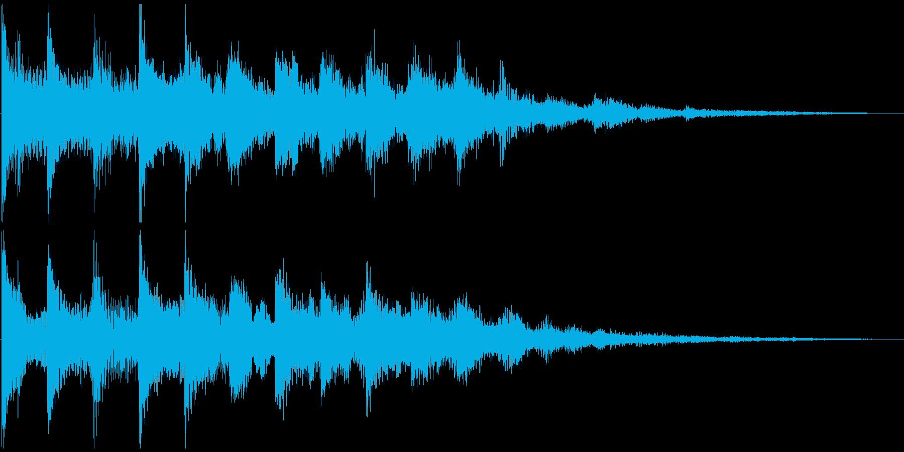 通知音・着信音風ジングル8の再生済みの波形
