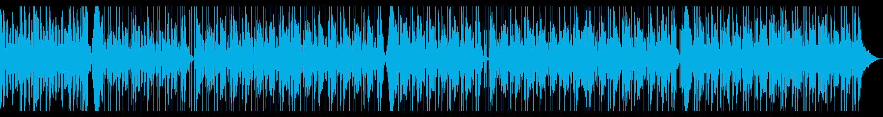 神秘的で科学的な浮遊するシンセサウンドの再生済みの波形