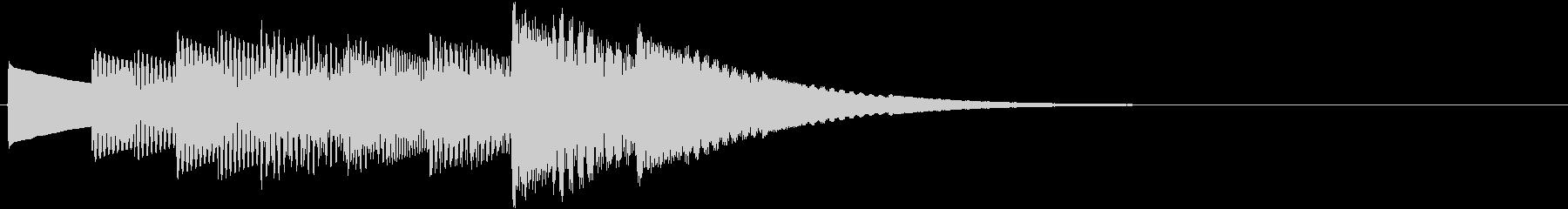 高速で光りきらめくイメージの電子音の未再生の波形