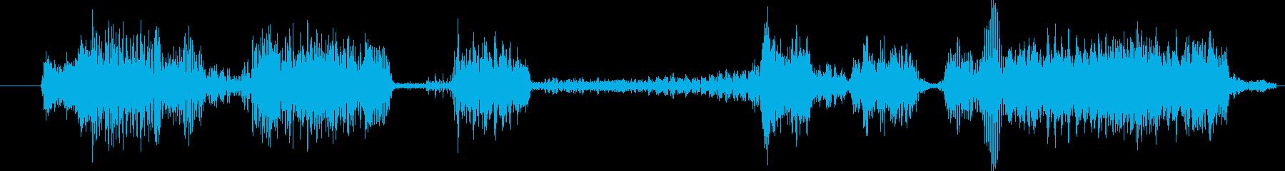 モンスター グリッチトーク02の再生済みの波形