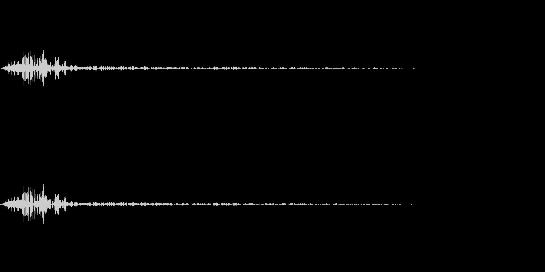 アイコン出現音(ポッ)の未再生の波形