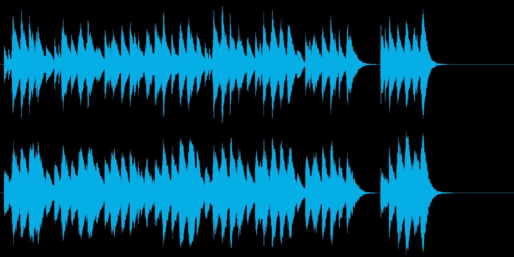 かわいいオルゴール風のハッピバースデーの再生済みの波形