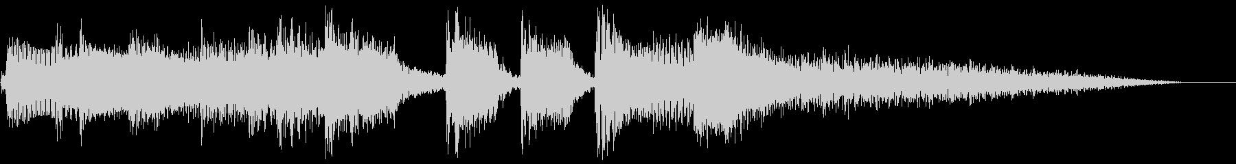 アコギ主体の穏やかなジングルの未再生の波形