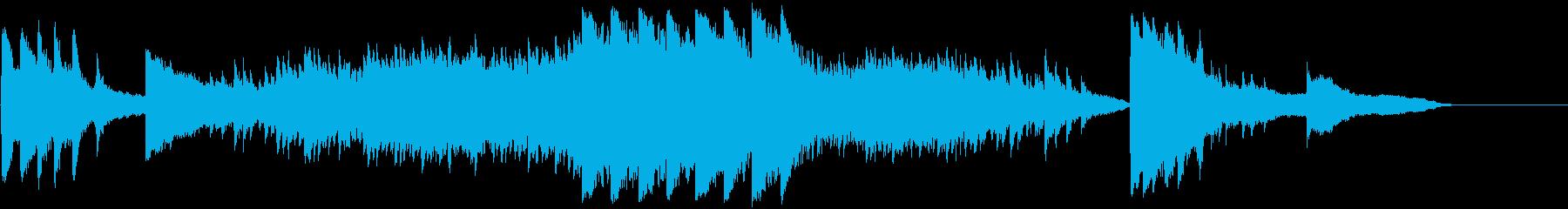 印象派風のピアノ即興演奏の再生済みの波形