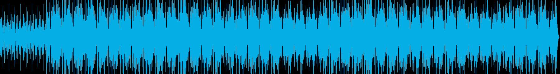 無造作なメロディーラインの再生済みの波形