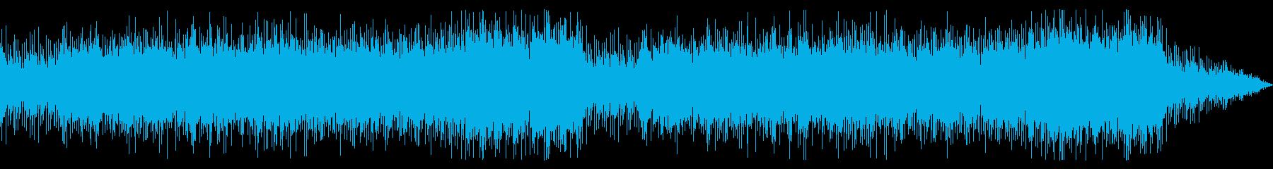シンセの疾走感あるメロディーが印象的な曲の再生済みの波形