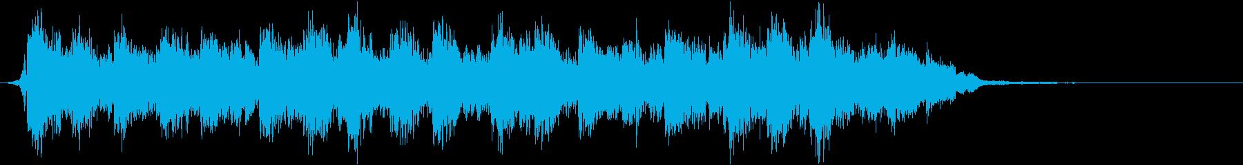 ニュース番組オープニングジングル10秒の再生済みの波形