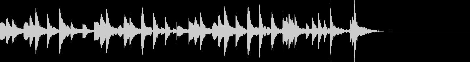 マリンバ系ジングルの未再生の波形