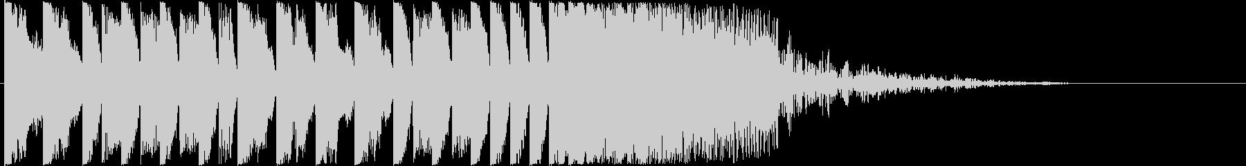 15秒のかっこいいEDMジングルの未再生の波形