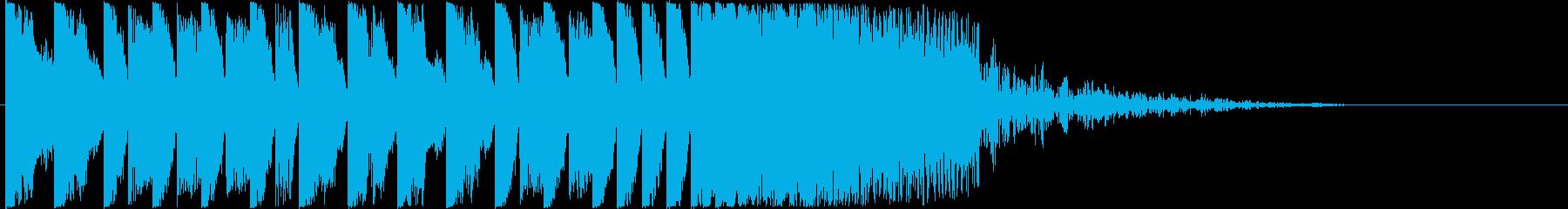 15秒のかっこいいEDMジングルの再生済みの波形