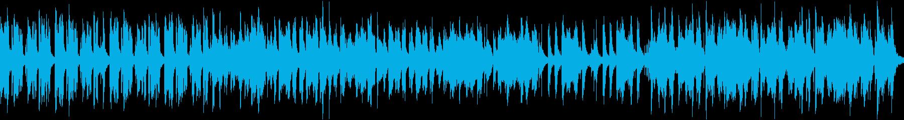 のんびり楽しい和風曲(ループ)の再生済みの波形