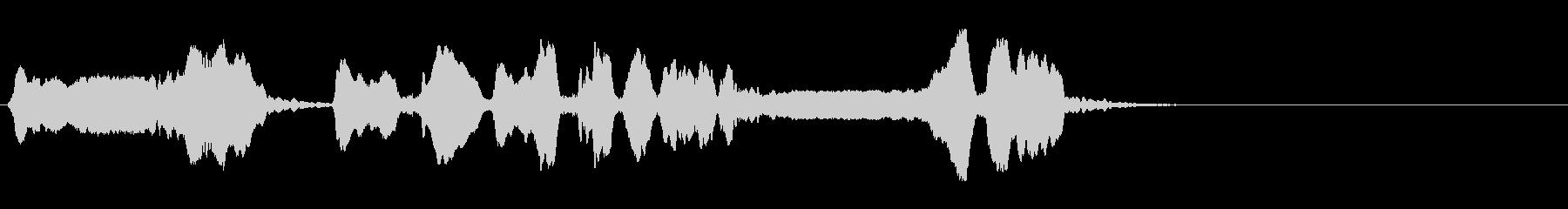 尺八 生演奏 古典風 残響音有 1の未再生の波形