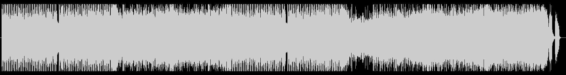 カーチェイスのようにスリリングな速い曲の未再生の波形