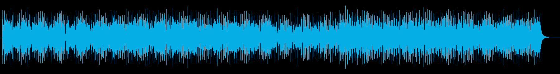 宇宙感のあるシンセサイザーサウンドの再生済みの波形