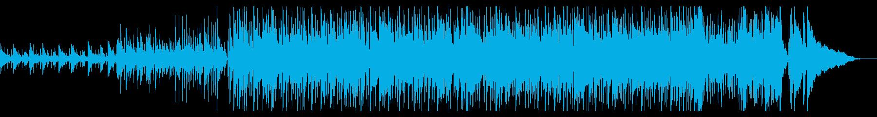 都会的で洗練された楽しいオシャレな曲の再生済みの波形